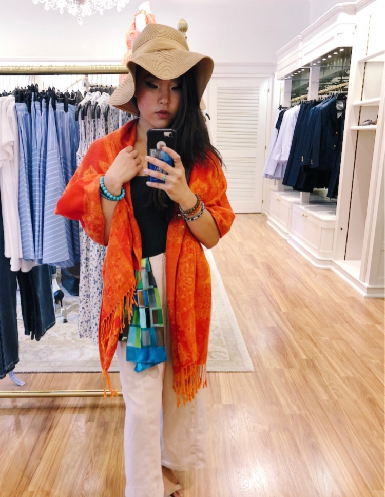 OOTD: Pairing Orange and Blue for the Summer​