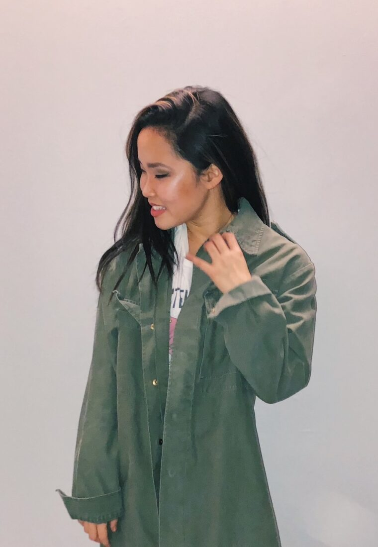 Two Ways to Wear Army Green